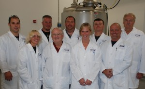 Production staff (Back LtoR) Brian, Matt, Bill, Chad, Al, (front LtoR) Crystal, Dr. Komer, Emily and Jim